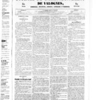 Le Journal de l'arrondissement de Valognes, numéro du 14 juin 1850