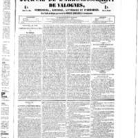 Le Journal de l'arrondissement de Valognes, numéro du 20 août 1852