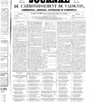 Le Journal de l'arrondissement de Valognes, numéro du 21 mars 1856