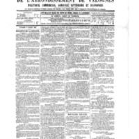 Le Journal de l'arrondissement de Valognes, numéro du 01 octobre 1886