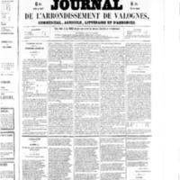 Le Journal de l'arrondissement de Valognes, numéro du 18 avril 1856