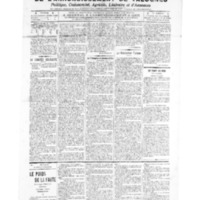 Le Journal de l'arrondissement de Valognes, numéro du 23 avril 1909