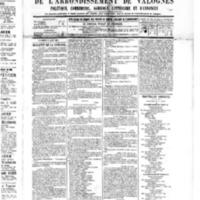 Le Journal de l'arrondissement de Valognes, numéro du 06 août 1886