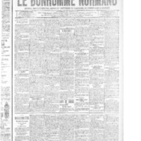 Le Bonhomme normand, numéro du 21 août 1914
