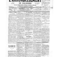 Le Journal de l'arrondissement de Valognes, numéro du 09 décembre 1939