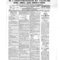 Le Journal de l'arrondissement de Valognes, numéro du 03 septembre 1875