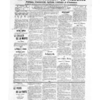 Le Journal de l'arrondissement de Valognes, numéro du 17 septembre 1909