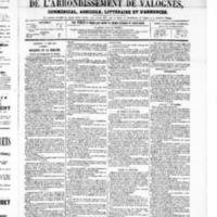 Le Journal de l'arrondissement de Valognes, numéro du 07 juin 1867
