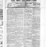 Le Journal de l'arrondissement de Valognes, numéro du 27 mars 1885