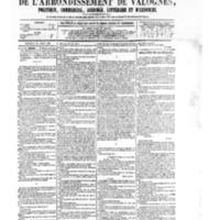 Le Journal de l'arrondissement de Valognes, numéro du 18 avril 1879