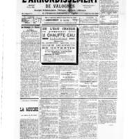Le Journal de l'arrondissement de Valognes, numéro du 14 juillet 1934
