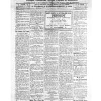Le Journal de l'arrondissement de Valognes, numéro du 26 novembre 1921
