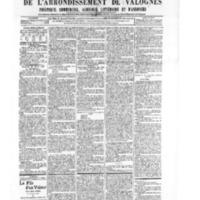 Le Journal de l'arrondissement de Valognes, numéro du 20 juillet 1906