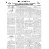 Le Journal de l'arrondissement de Valognes, numéro du 10 février 1854