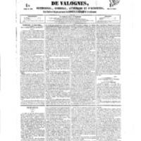 Le Journal de l'arrondissement de Valognes, numéro du 15 septembre 1854