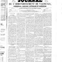 Le Journal de l'arrondissement de Valognes, numéro du 14 mars 1856