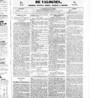 Le Journal de l'arrondissement de Valognes, numéro du 21 juin 1850