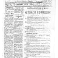 Le Journal de l'arrondissement de Valognes, numéro du 23 avril 1932