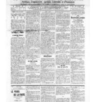 Le Journal de l'arrondissement de Valognes, numéro du 25 juin 1909