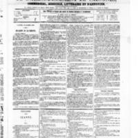 Le Journal de l'arrondissement de Valognes, numéro du 30 octobre 1868