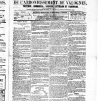 Le Journal de l'arrondissement de Valognes, numéro du 07 mai 1880