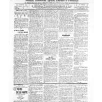 Le Journal de l'arrondissement de Valognes, numéro du 10 septembre 1909