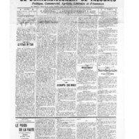 Le Journal de l'arrondissement de Valognes, numéro du 06 août 1909