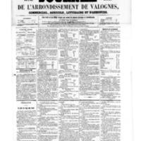 Le Journal de l'arrondissement de Valognes, numéro du 26 août 1859