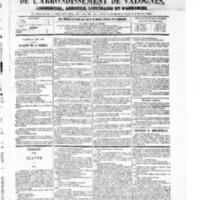 Le Journal de l'arrondissement de Valognes, numéro du 21 août 1868