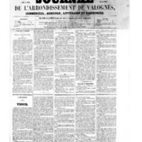 Le Journal de l'arrondissement de Valognes, numéro du 07 janvier 1859