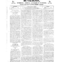 Le Journal de l'arrondissement de Valognes, numéro du 17 février 1854
