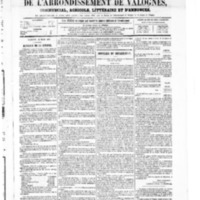 Le Journal de l'arrondissement de Valognes, numéro du 27 mars 1868