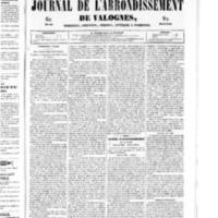 Le Journal de l'arrondissement de Valognes, numéro du 09 août 1850
