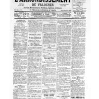 Le Journal de l'arrondissement de Valognes, numéro du 16 septembre 1939