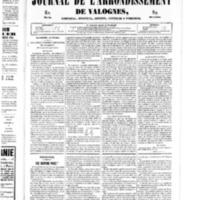 Le Journal de l'arrondissement de Valognes, numéro du 15 février 1850