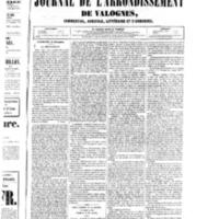 Le Journal de l'arrondissement de Valognes, numéro du 27 décembre 1850