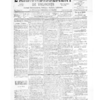 Le Journal de l'arrondissement de Valognes, numéro du 07 octobre 1939
