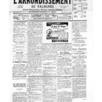 Le Journal de l'arrondissement de Valognes, numéro du 19 août 1939