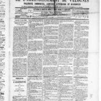 Le Journal de l'arrondissement de Valognes, numéro du 14 juin 1889