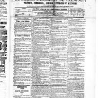 Le Journal de l'arrondissement de Valognes, numéro du 09 janvier 1880