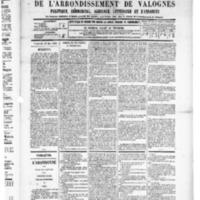 Le Journal de l'arrondissement de Valognes, numéro du 10 mai 1889
