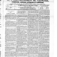 Le Journal de l'arrondissement de Valognes, numéro du 02 octobre 1868