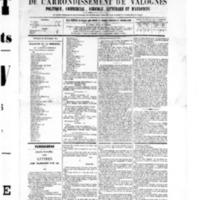 Le Journal de l'arrondissement de Valognes, numéro du 31 décembre 1875