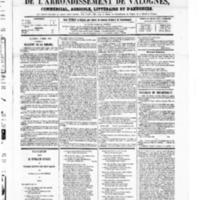Le Journal de l'arrondissement de Valognes, numéro du 06 mars 1868
