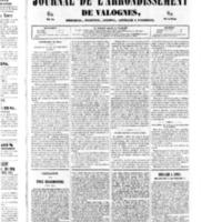 Le Journal de l'arrondissement de Valognes, numéro du 29 mars 1850