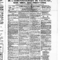 Le Journal de l'arrondissement de Valognes, numéro du 23 avril 1880