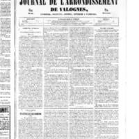 Le Journal de l'arrondissement de Valognes, numéro du 11 janvier 1850