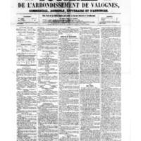 Le Journal de l'arrondissement de Valognes, numéro du 22 avril 1859