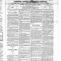 Le Journal de l'arrondissement de Valognes, numéro du 28 juillet 1865