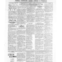 Le Journal de l'arrondissement de Valognes, numéro du 10 décembre 1909